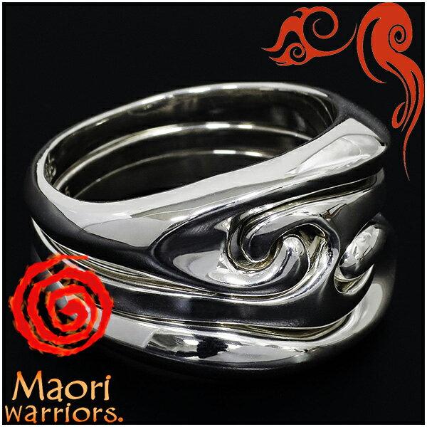 Maori warriors Sea Smile リング 3連 シルバー 15〜21号 マオリウォリアーズ シルバー925 シルバーリング メンズ ブランド トライバル マオリ 指輪 ニュージーランド ハカ ラグビー メンズリング 男性用指輪 プレゼント 人気 彼氏 おしゃれ