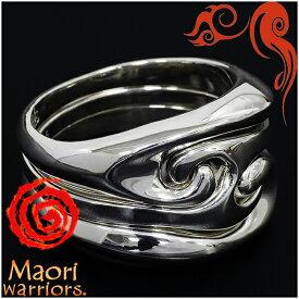 Maori warriors Sea Smile リング 3連 シルバー 13〜21号 マオリウォリアーズ シルバー925 シルバーリング メンズ ブランド トライバル マオリ 指輪 ニュージーランド ハカ ラグビー メンズリング 男性用指輪 プレゼント 人気 彼氏 おしゃれ