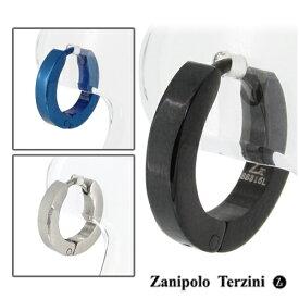 シンプル サージカルステンレス フープピアス 1P 片耳用 Zanipolo Terzini メンズ ピアス ステンレス フープ リング 中折れ式 男性 金属アレルギー メンズピアス 男性用ピアス プレゼント 人気 おしゃれ かっこいい