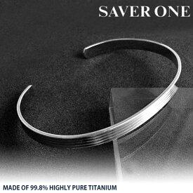 約4.5mm幅 SAVER ONE セイバーワン 純チタンバングル TITAN チタニウム プレゼント 人気 おしゃれ