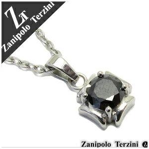 ザニポロタルツィーニ ブラックジルコニア クロスモチーフ ステンレスネックレス メンズ ネックレス 金属アレルギー メンズ