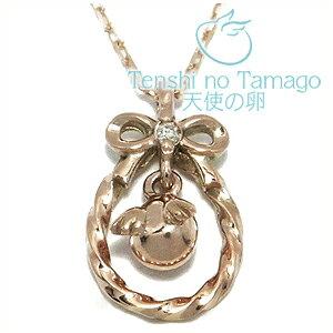 天使の卵 ダイヤモンド リボン K10ピンクゴールド ネックレス K10 ピンクゴールド 銀の蔵 レディース 女性用 ペンダントネックレス レディースネックレス ネックレスレディース プレゼント