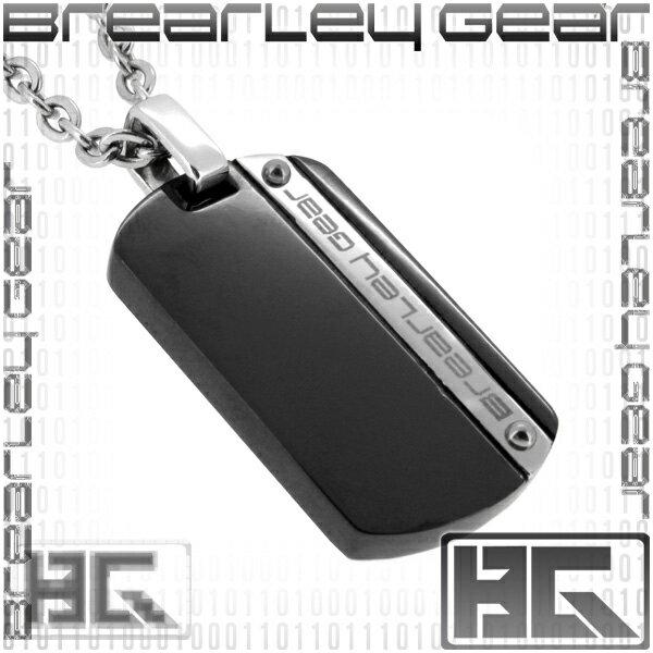 Brearley Gear ブラック ブランドロゴ ドッグタグ サージカルステンレス ネックレス ステンレスアクセサリー メンズ 男性用 ペンダント  金属