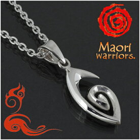 Maori warriors コル シルバー チャーム シルバー925 メンズ ブランド マオリ モコ 男性 アクセサリー トライバル ニュージーランド ハカ ラグビー メンズネックレス 男性用ネックレス プレゼント 人気 彼氏 おしゃれ