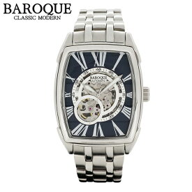 703f63a0de BAROQUE 腕時計 TREVI ネイビー 自動巻き スケルトン ウォッチ BA2001S-03M ブランド 時計 メンズ アクセサリー  ファッション カジュアル メタルベルト メンズ腕時計 ...