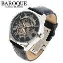 BAROQUE 腕時計 ブランド ウォッチ PLELUDIO BA2003S-02B プレリュード 時計 メンズ 紳士 かっこいい シースルー スケ…