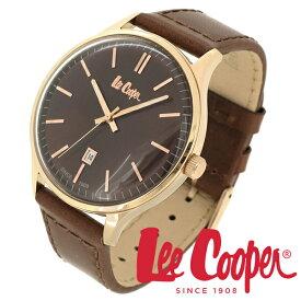 Lee Cooper 腕時計 ブランド ウォッチ LC06290.442 リークーパー 時計 メンズ 紳士 ブラウン ローズゴールド かっこいい クォーツ 本革ベルト クラシック ビジネス カジュアル ビジカジ イギリス ブリティッシュ 日本製ムーブメント 電池式 人気 プレゼント 彼氏 おしゃれ