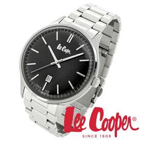 Lee Cooper 腕時計 ブランド ウォッチ LC06292.350 リークーパー 時計 メンズ 紳士 ブラック かっこいい クォーツ ステンレスベルト クラシック ビジネス カジュアル ビジカジ イギリス ブリティッシュ 日本製ムーブメント 電池式 人気 プレゼント 彼氏 おしゃれ