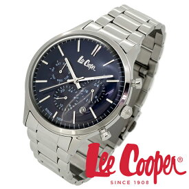 Lee Cooper 腕時計 ブランド ウォッチ LC06295.390 リークーパー 時計 メンズ 紳士 ネイビー かっこいい クォーツ ステンレスベルト クラシック ビジネス カジュアル ビジカジ イギリス ブリティッシュ 日本製ムーブメント 電池式 人気 プレゼント 彼氏 おしゃれ