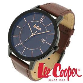 Lee Cooper 腕時計 ブランド ウォッチ LC06326.652 リークーパー 時計 メンズ 紳士 ブラック ローズゴールド クォーツ 本革 ブラウン レザー クラシック ビジネス カジュアル ビジカジ イギリス ブリティッシュ 日本製ムーブメント 電池式 人気 プレゼント 彼氏 おしゃれ
