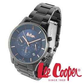 Lee Cooper 腕時計 ブランド ウォッチ LC6857.090 ブラック×ネイビー×ピンクゴールド リークーパー 時計 メンズ 紳士 クォーツ ステンレスベルト 機能的 ビジネス カジュアル ビジカジ イギリス ブリティッシュ クロノグラフ 電池式 人気 プレゼント 彼氏 おしゃれ