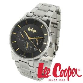 Lee Cooper 腕時計 ブランド ウォッチ lc6857.350 シルバー×ブラック×ゴールド リークーパー 時計 メンズ 紳士 クォーツ ステンレスベルト 機能的 ビジネス カジュアル ビジカジ イギリス ブリティッシュ クロノグラフ 電池式 人気 プレゼント 彼氏 おしゃれ