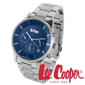 Lee Cooper 腕時計 ブランド ウォッチ lc6857.390 ネイビー×シルバー リークーパー 時計 メンズ 紳士 クォーツ ステンレスベルト 機能的 ビジネス カジュアル ビジカジ イギリス ブリティッシュ クロノグラフ 電池式 人気 プレゼント 彼氏 おしゃれ