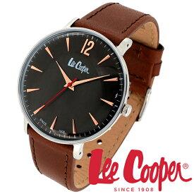 Lee Cooper 腕時計 ブランド ウォッチ LC6379.362 リークーパー 時計 メンズ 紳士 ブラック ローズゴールド ブラウン かっこいい クォーツ レザーベルト 革 クラシック ビジネス カジュアル ビジカジ イギリス ブリティッシュ 日本製ムーブメント 電池式 人気 おしゃれ