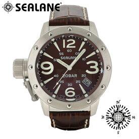 SEALANE シーレーン SE32 シリーズ ブラウン 牛本革ベルト ウォッチ 革ベルト クォーツ 日付 時計 メンズ 腕時計 SE32-LBR メンズ腕時計 人気腕時計 ブランド時計 プレゼント おしゃれ