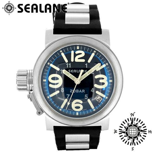 SEALANE シーレーン SE51 シリーズ ブルー ラバーベルト ウォッチ クォーツ 日付 時計 メンズ 腕時計 SE51-PBL メンズ腕時計 人気腕時計 ブランド時計 プレゼント おしゃれ