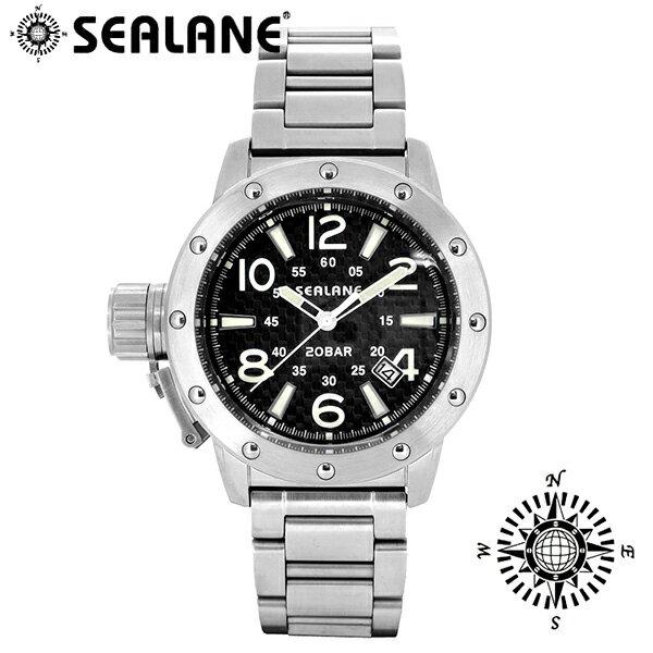 SEALANE シーレーン SE54 シリーズ ブラック 自動巻き メタルベルト ウォッチ オートマチック 自動巻 時計 メンズ 腕時計 SE54-MBK メンズ腕時計 人気腕時計 ブランド時計 プレゼント おしゃれ