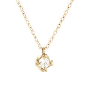 一粒 ゴールドネックレス(チェーン付きペンダント) 18金 ピンクゴールド ダイヤモンド ダイアモンド ジュエリー ネックレス ペンダント 首飾り レディース 女性 アクセサリー ギフト プレゼ