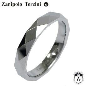 Zanipolo Terzini ダイヤ形カット タングステン ブラック リング 5〜7号 メンズ レディース ユニセックス ピンキーリング 男性 ザニポロタルツィーニ メタル 指輪 メンズリング プレゼント 人気 かっこいい おしゃれ