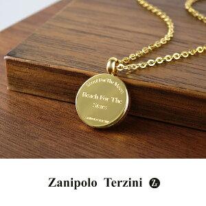 ザニポロタルツィーニ イエローゴールド コイン ネックレス ペンダント トップ サージカルステンレス ゴールド 金 医療用ステンレス メンズ オフィス カジュアル レディース ファッション