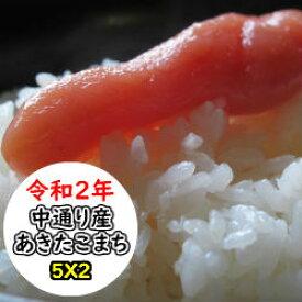 超特売価格にてご提供! 福島中通り産あきたこまち 10kg (5Kgx2) 令和2年産 精米 乾式無洗米 選べる精米方法