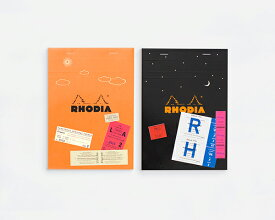 THE bloc memo(ブロック メモ) RHODIA(ロディア) Day & Night ORANGE & BLACK