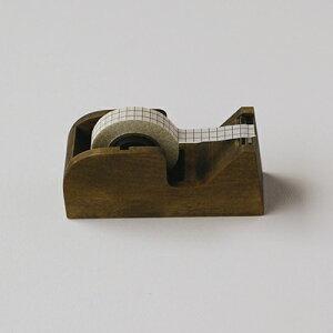 【メールマガジン希望ご選択で5%OFF!】 倉敷意匠計画室 木製 テープカッターS (ブラウン)