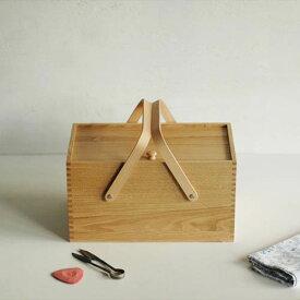 倉敷意匠計画室 栗のソーイングボックス(裁縫箱)
