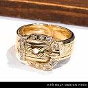 ベルト デザイン リング 18金 天然石 ダイアモンド 付き belt design ring with diamond k18