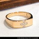 リング 18金 クロス デザイン リング 天然石 ダイアモンド cross ring with diamonds k18