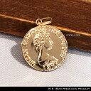 ペンダント プレス コイン 18金 プレスコイン 15mm ペンダント トップ ペンダントトップのみ 15mm press coin pendant…