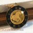 K18 18金 k24 24金 純金コイン エリザベス ホース ペンダント coin pendant ツバルコイン 1/25oz