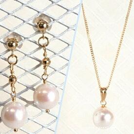 k18 18金 アコヤ パール 本真珠 ジュエリー セット K18 akoya pearl jewelry set 40cm