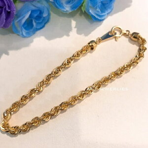 ブレスレット 18金 ロープ k18 ロープ ブレスレット 18cm 男女兼用 / K18 Rope bracelet 18cm