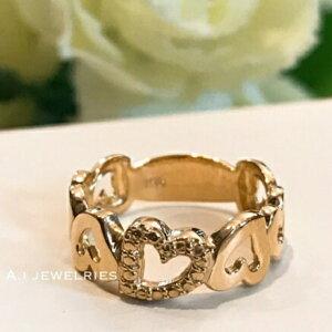 リング 18金 ハート k18 ハート モチーフ リング ピンキー リング / k18 heart design ring pinky ring