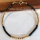 K18 18金 ミラー カット ボール ブラック スピネル ブレスレット bracelet mens ladies メンズ レディース 兼用 ginza…
