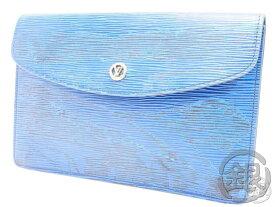 """""""最大5,000円offクーポン発行中""""【中古】ルイヴィトン エピ ブルー ポシェット モンテーニュ セカンドバッグ クラッチ バッグ 鞄 レディース Used LOUIS VUITTON VINTAGE EPI TOLEDO BLUE POCHETTE MONTAIGNE MM CLUTCH BAG M52665 B191971 GINZA-JAPAN ブランドバッグ LV"""