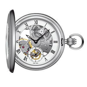 正規品 機械式 ティソ TISSOT ブブリッジポート メカニカル スケルトン T8594051927300 ポケットウォッチ 懐中時計