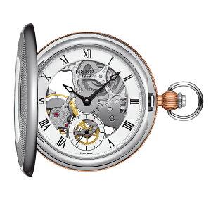 正規品 機械式 ティソ TISSOT ブリッジポート メカニカル スケルトン T8594052927300 ポケットウォッチ 懐中時計