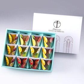 [銀座フルーツジュレ]フルーツの美味しさをぎゅっと閉じ込めた、果肉入りゼリー&彩りも美しい2層ゼリーの詰め合わせ