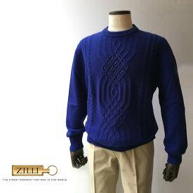 ZILLI (ジリー)ニット セーター メンズ カジュアル ブランド ZILLI ジリー ブルーネイビー 大きいサイズ