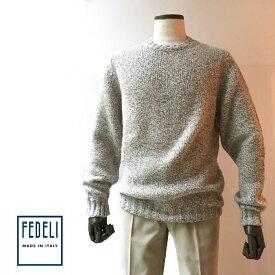FEDELI (フェデーリ) ローゲージカシミヤニットミドルネックセーター メンズ カシミヤ ブランド 大きいサイズ 長袖 ニット