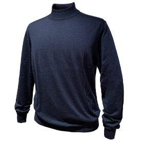 FEDELI (フェデーリ) ハイネックハイゲージカシミヤニットセーター メンズ ブランド カジュアル 大きいサイズ 長袖 ネイビー 無地