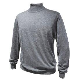 FEDELI (フェデーリ) ハイネックハイゲージカシミヤニットセーター メンズ ブランド カジュアル 大きいサイズ 長袖 グレー 無地