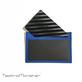 TecknoMonster (テクノモンスター)サブラージュカード カードケース 定期入れ パスケース クレジットカードケース ブランド メンズ レディース ソフトカーボンファイバー カーフレザー チタン ハードカーボンファイバー イタリア製 サブラージュ ブルー