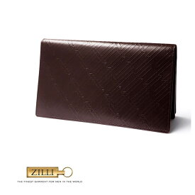ZILLI (ジリー)財布 長財布 メンズ レディース ブランド ジリー ZILLI カーフレザー 本革 ブラウン 大人 御洒落