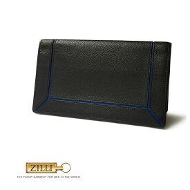 ZILLI (ジリー)財布 長財布 メンズ レディース ブランド ZILLI ジリー カーフレザー 本革 ブラック 大人 御洒落