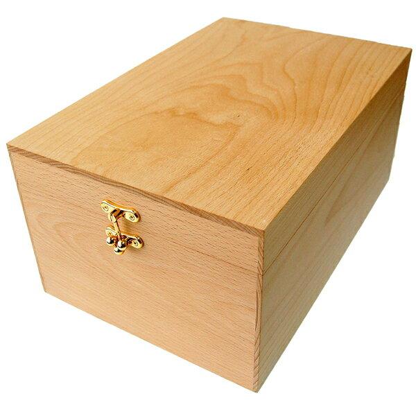 シューケアボックス 【木箱のみの単品販売】ブナ製 BOX(シューケア用品、靴磨きセット、シューケアセットの収納ボックス)家具職人手作り【あす楽】
