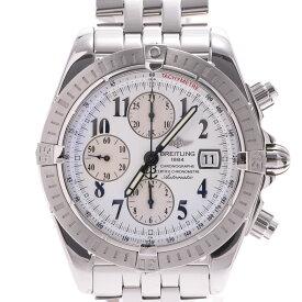 BREITLING ブライトリング クロノマット エボリューション A13356 メンズ SS 腕時計 自動巻き 白文字盤 Aランク 中古 銀蔵