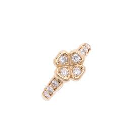 【サマーセレクション10万以下】 Christian Dior クリスチャンディオール クローバー 10号 レディース K18YG/ダイヤ リング・指輪 Aランク 中古 銀蔵